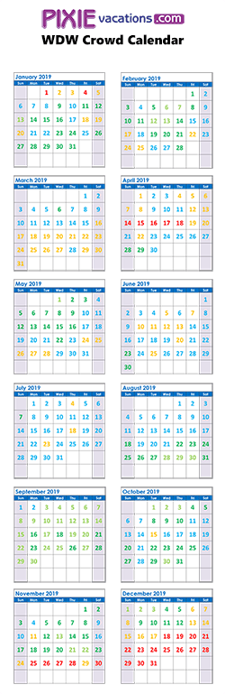 Crowd Calendar For Disney February 2020 Walt Disney World Crowd Calendars   Pixie Vacations