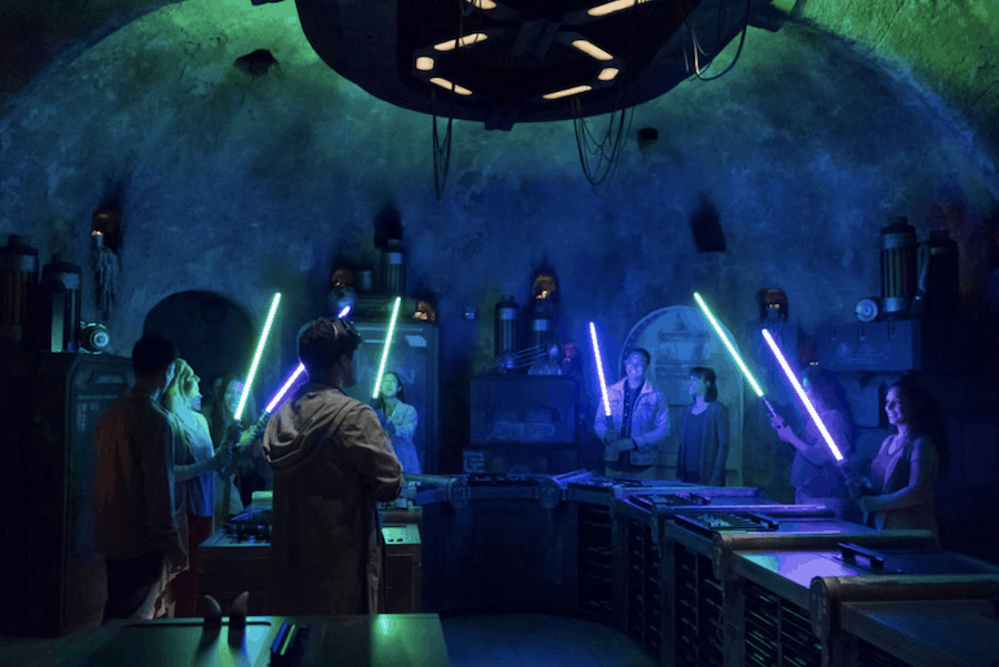 build a light saber at star wars land