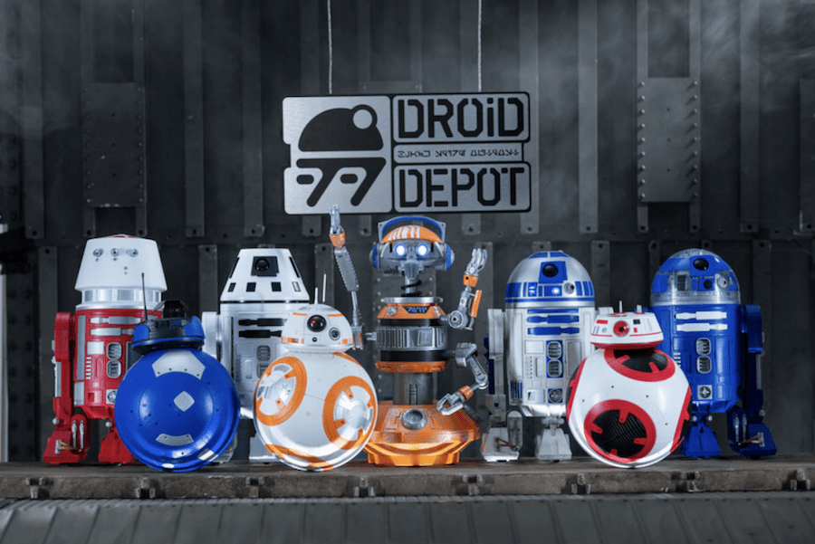 star wars land droids building