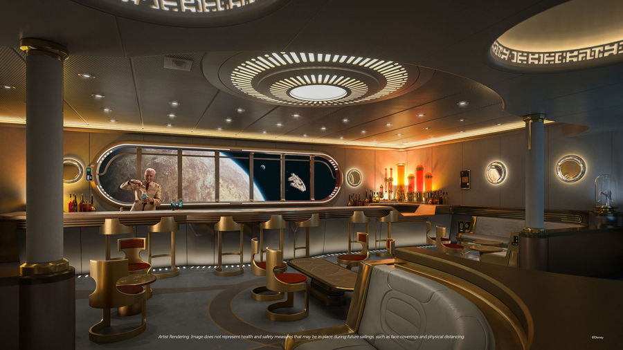 Hyperspace Lounge Disney Cruise Line